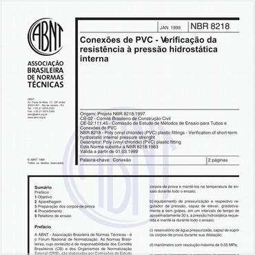 NBR8218 de 01/1999