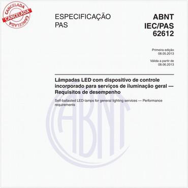 ABNT IEC/PAS62612 de 05/2013