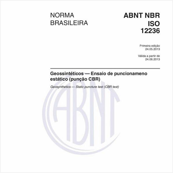 Geossintéticos — Ensaio de puncionameno estático (punção CBR)