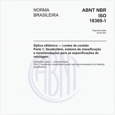 NBRISO18369-1 de 06/2013