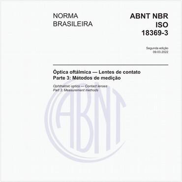 NBRISO18369-3 de 06/2013