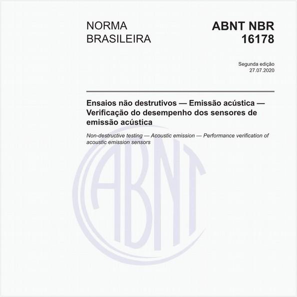 Ensaios não destrutivos — Emissão acústica — Verificação do desempenho dos sensores de emissão acústica