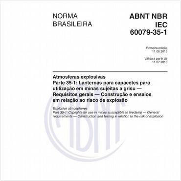 NBRIEC60079-35-1 de 06/2013