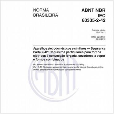 NBRIEC60335-2-42 de 07/2013