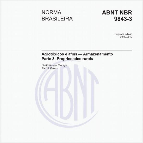 Agrotóxicos e afins - Armazenamento - Parte 3: Propriedades rurais