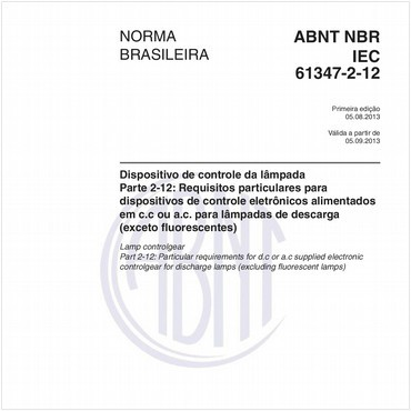 NBRIEC61347-2-12 de 08/2013