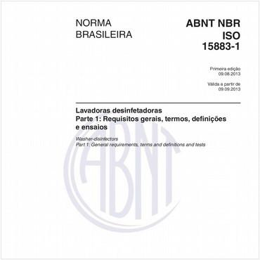NBRISO15883-1 de 08/2013