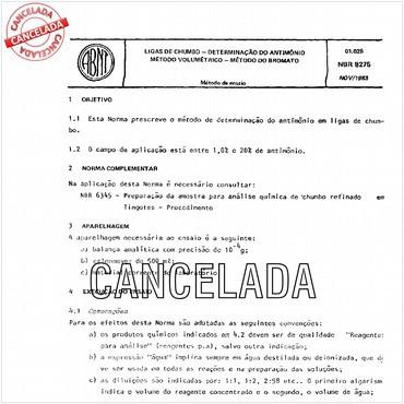 NBR8275 de 11/1983