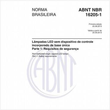 NBR16205-1 de 08/2013