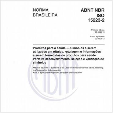 NBRISO15223-2 de 08/2013