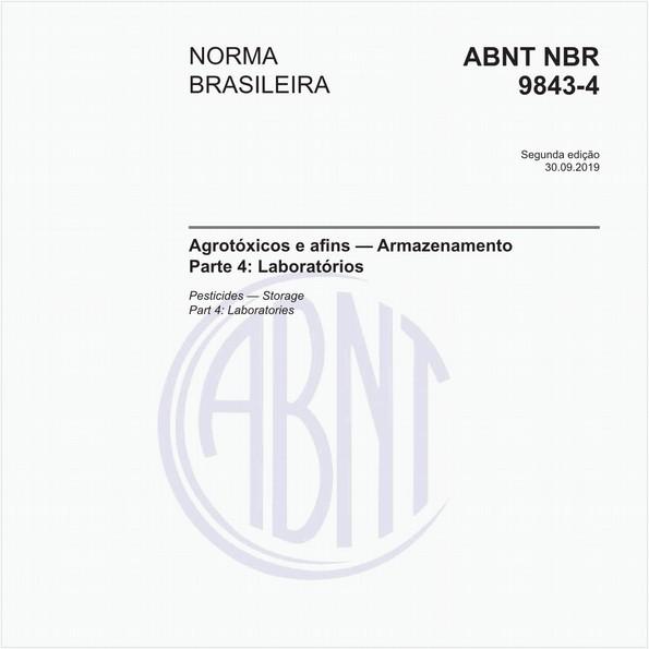 Agrotóxicos e afins - Armazenamento - Parte 4: Laboratórios