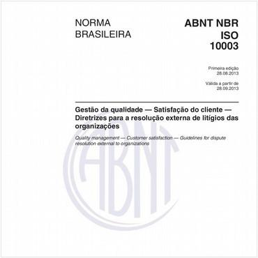 NBRISO10003 de 08/2013