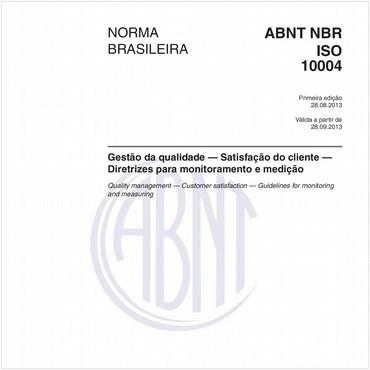 NBRISO10004 de 08/2013