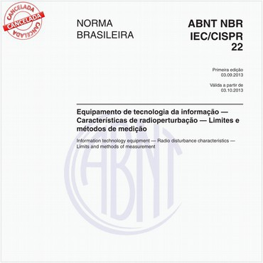 NBRIEC/CISPR22 de 09/2013