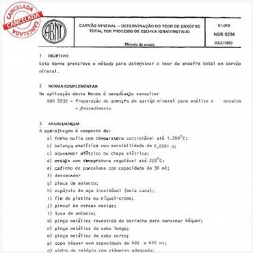 NBR8294 de 12/1983
