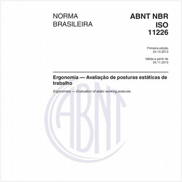 NBRISO11226 de 10/2013