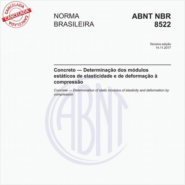 Concreto - Determinação dos módulos estáticos de elasticidade e de deformação à compressão