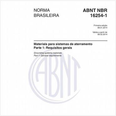 NBR16254-1 de 01/2014