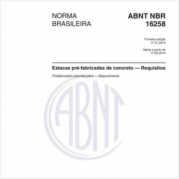 NBR16258 de 01/2014