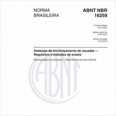 NBR16259 de 01/2014