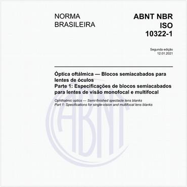NBRISO10322-1 de 01/2014