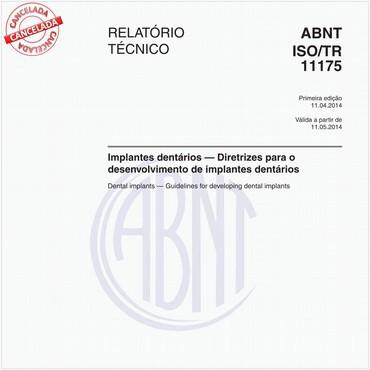 ABNT ISO/TR11175 de 04/2014