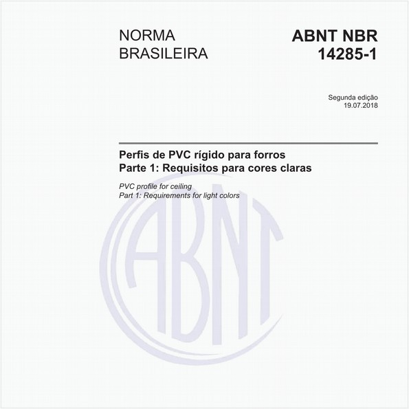 Perfis de PVC rígido para forros - Parte 1: Requisitos para cores claras