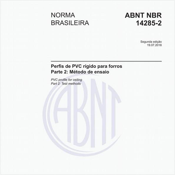 Perfis de PVC rígido para forros - Parte 2: Método de ensaio