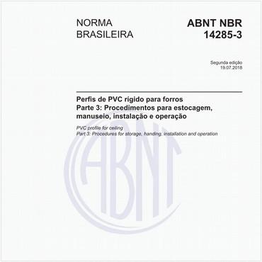NBR14285-3 de 07/2018