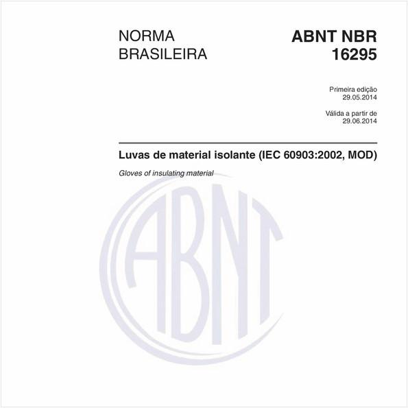 Luvas de material isolante (IEC 60903:2002, MOD)