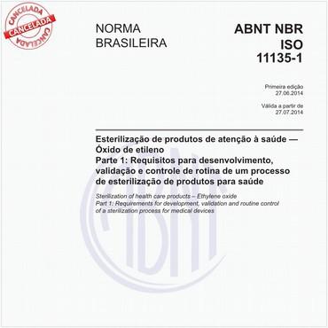 NBRISO11135-1 de 06/2014