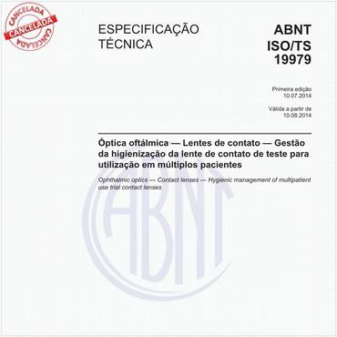 ABNT ISO/TS19979 de 07/2014