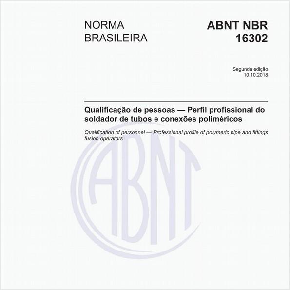 Qualificação de pessoas - Perfil profissional do soldador de tubos e conexões poliméricos