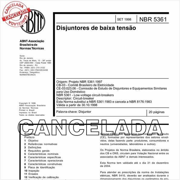 NBR5361 de 07/2006