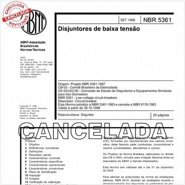 NBR5361 de 09/1998
