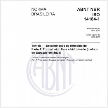 NBRISO14184-1 de 08/2014