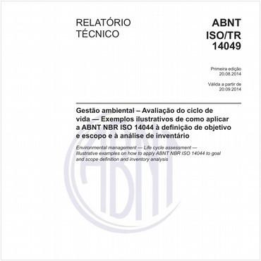 ABNT ISO/TR14049 de 08/2014