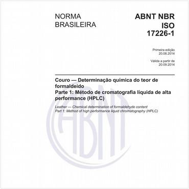 NBRISO17226-1 de 08/2014