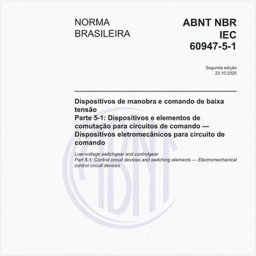 NBRIEC60947-5-1 de 10/2020