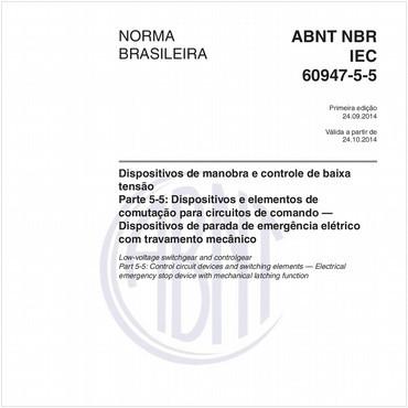 NBRIEC60947-5-5 de 09/2014