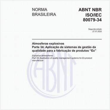 NBRISO/IEC80079-34 de 07/2020