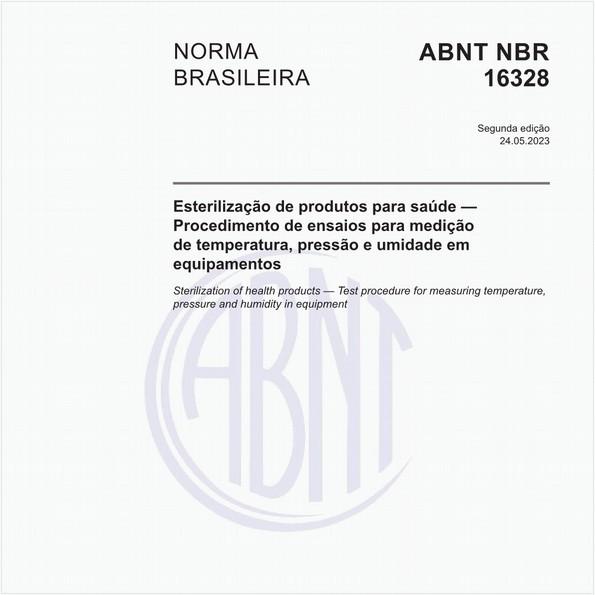Esterilização de produtos para saúde — Procedimento de ensaios para medição de temperatura, pressão e umidade em equipamentos