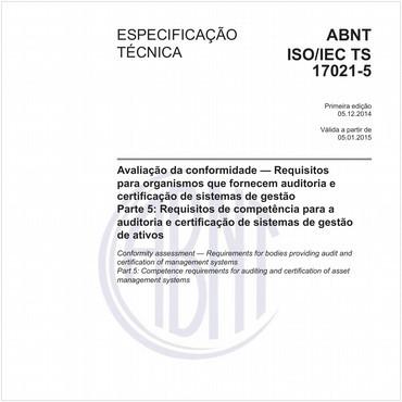 ABNT ISO/IEC TS17021-5 de 12/2014