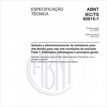 ABNT IEC/TS60815-1 de 12/2014