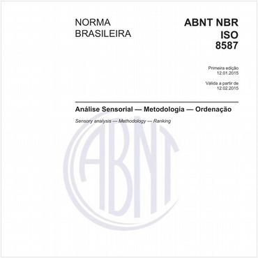 NBRISO8587 de 01/2015
