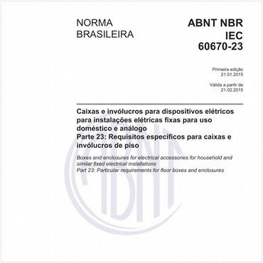 NBRIEC60670-23 de 01/2015