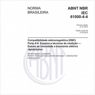 NBRIEC61000-4-4 de 01/2015