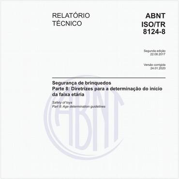 ABNT ISO/TR8124-8 de 08/2017