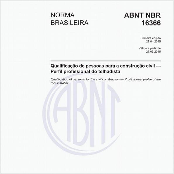 Qualificação de pessoas para a construção civil - Perfil profissional do telhadista