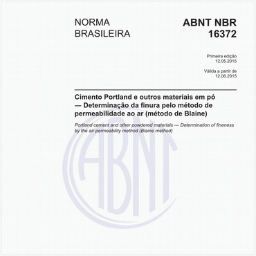 NBR16372 de 05/2015